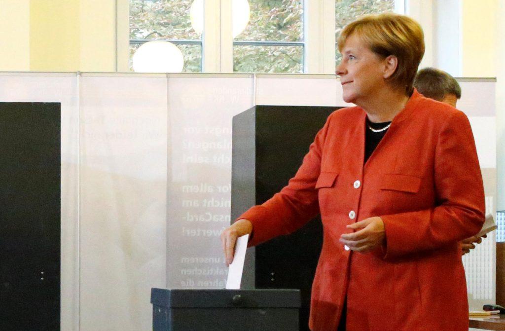 Ангела Меркель отдала свой голос на выборах в бундестаг