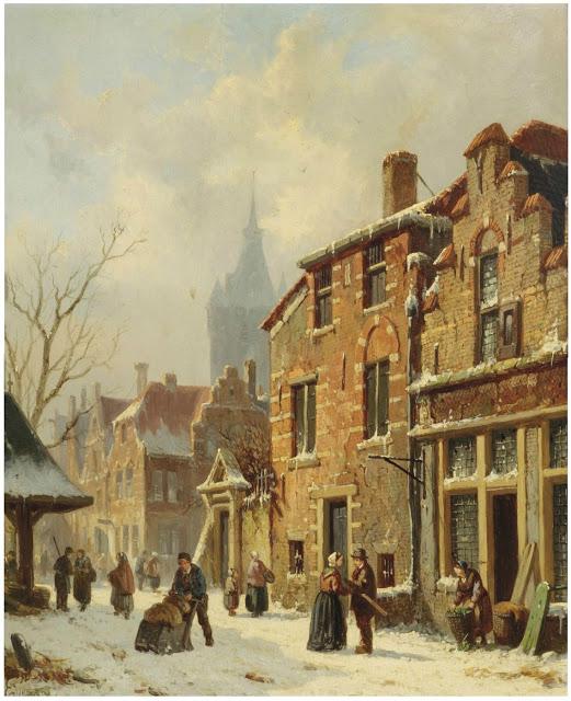 Городские пейзажи 19-го века от голландца Адриануса Эверзена.