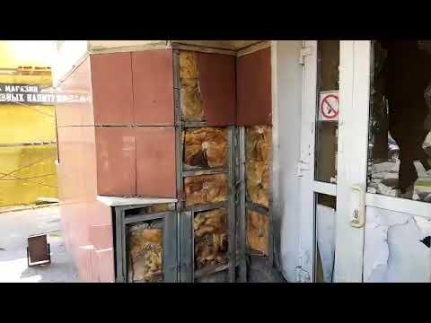 Появилось видео из Калуги с места взрыва у входа в Пенсионный фонд