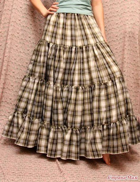 Как сшить летнюю юбку ярусами без выкройки