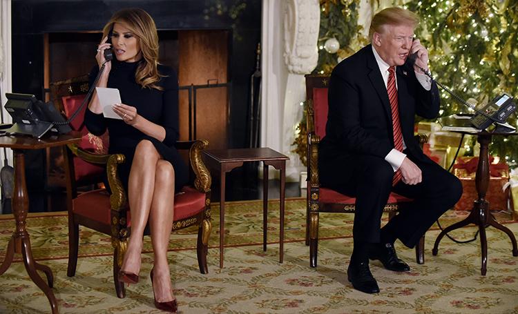 Мелания и Дональд Трамп стал…