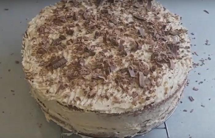 вафельный торт с халвой