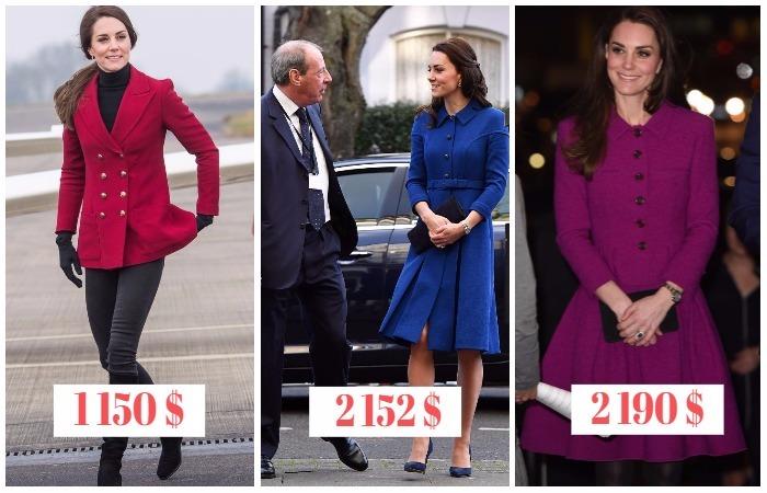 15 самых дорогих нарядов Кейт Миддлтон за последний год