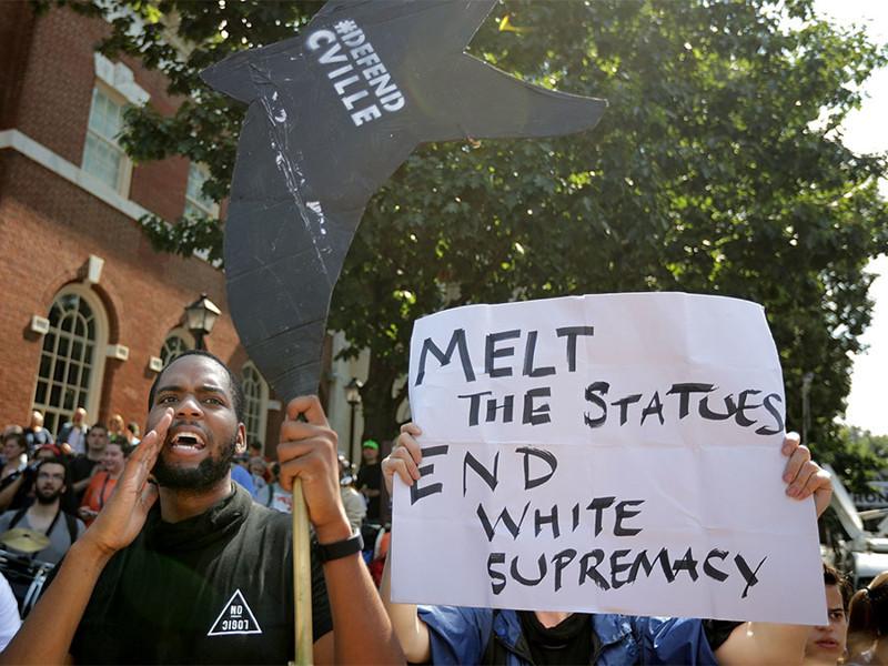 """""""Снести памятники - покончить с превосходством белых"""" Трамп, Шарлотсвилль, америка, конфедерация, левые, сша"""