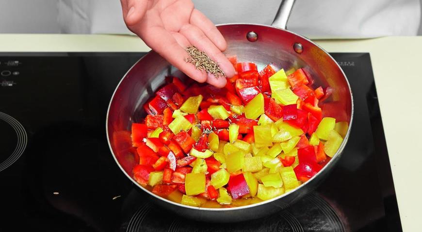 Чечевичная похлебка с жареным перцем. Шаг 6