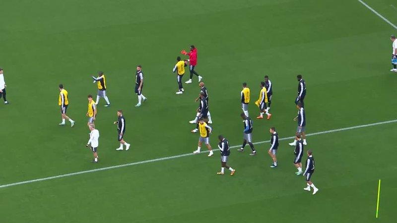Сборная Франции накануне матча с Перу