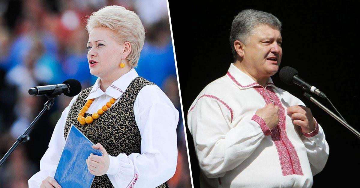 Лебединая песня «хромых уток»: Порошенко и Грибаускайте выступили против России