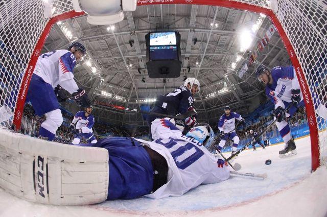 Сборная США по хоккею победила команду из Словакии на ОИ-2018