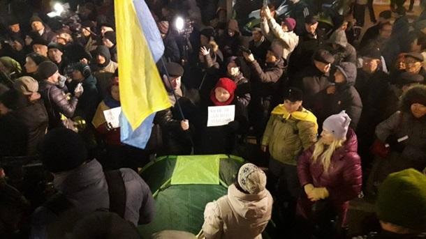 Это новый Майдан! Весь центр Киева усеяли палатками