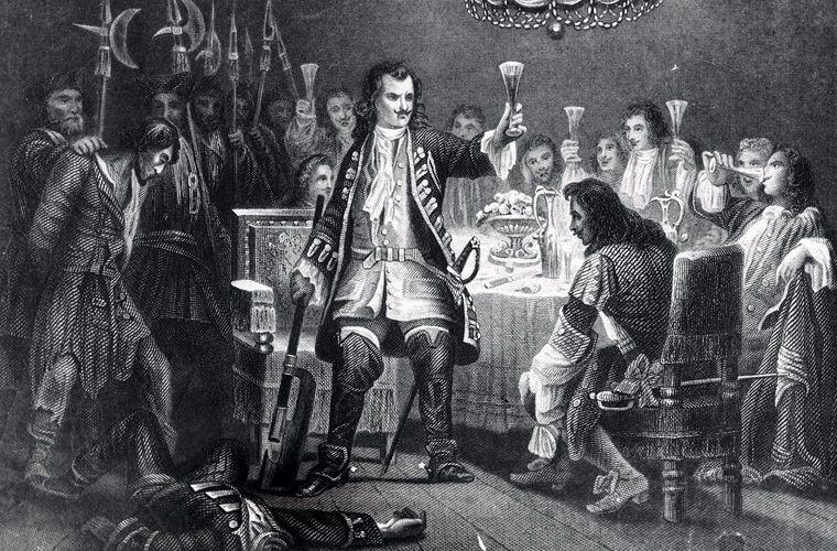 Петр I на английской гравюре 1858 года СССР, граненый стакан, губастый, история, посуда, стакан, стекло, факты
