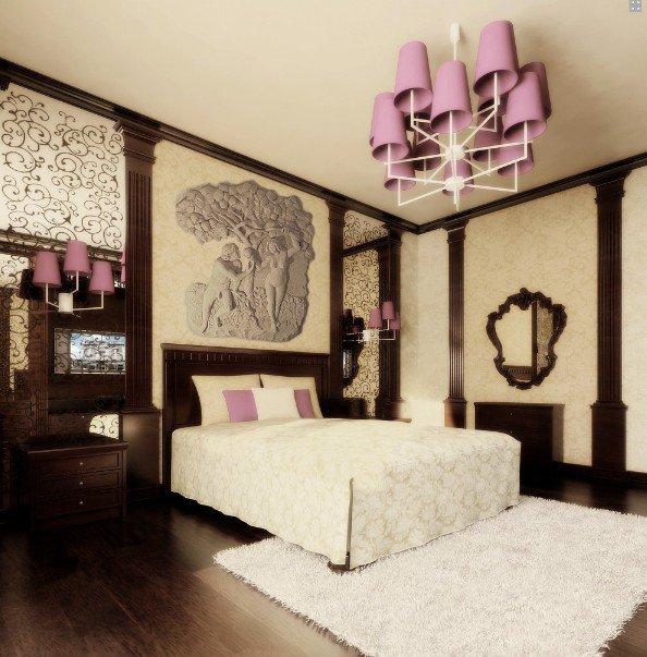 Аксессуары для спальни в классическом стиле