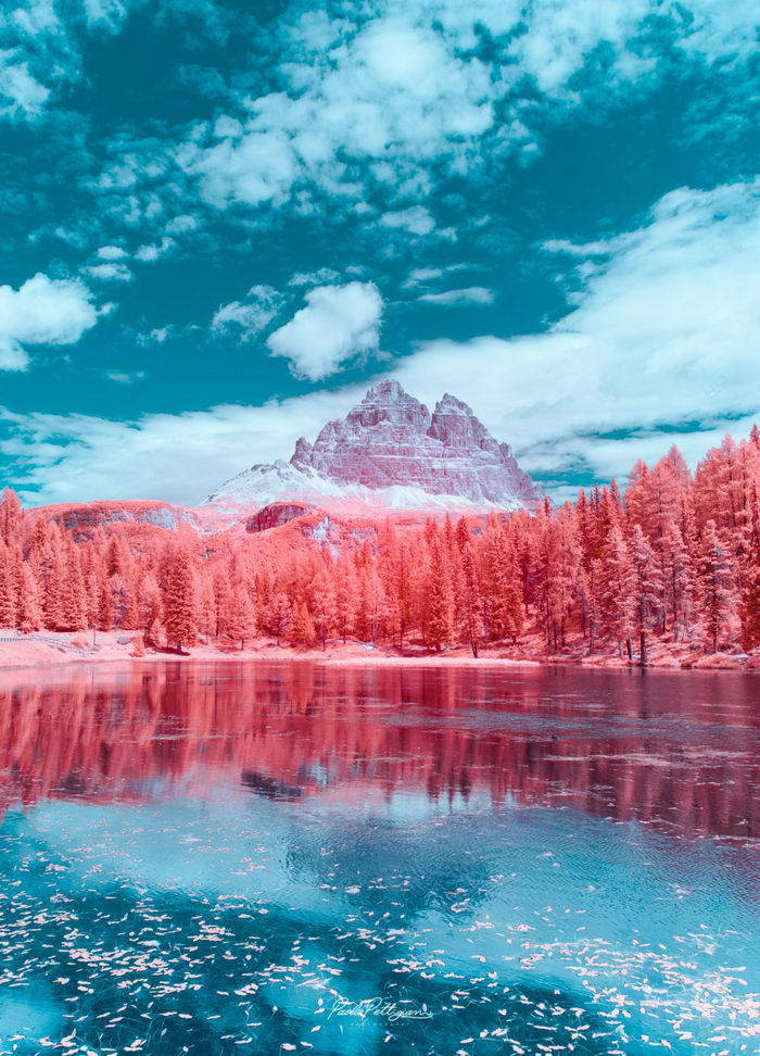 Доломитовые Альпы в инфракрасном свете: фото Paolo Pettigiani