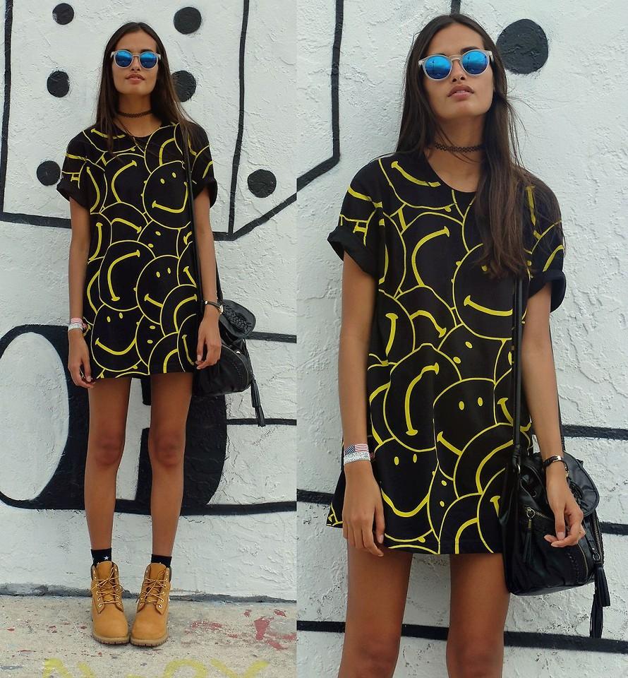 Тимберленды можно носить и с платьем