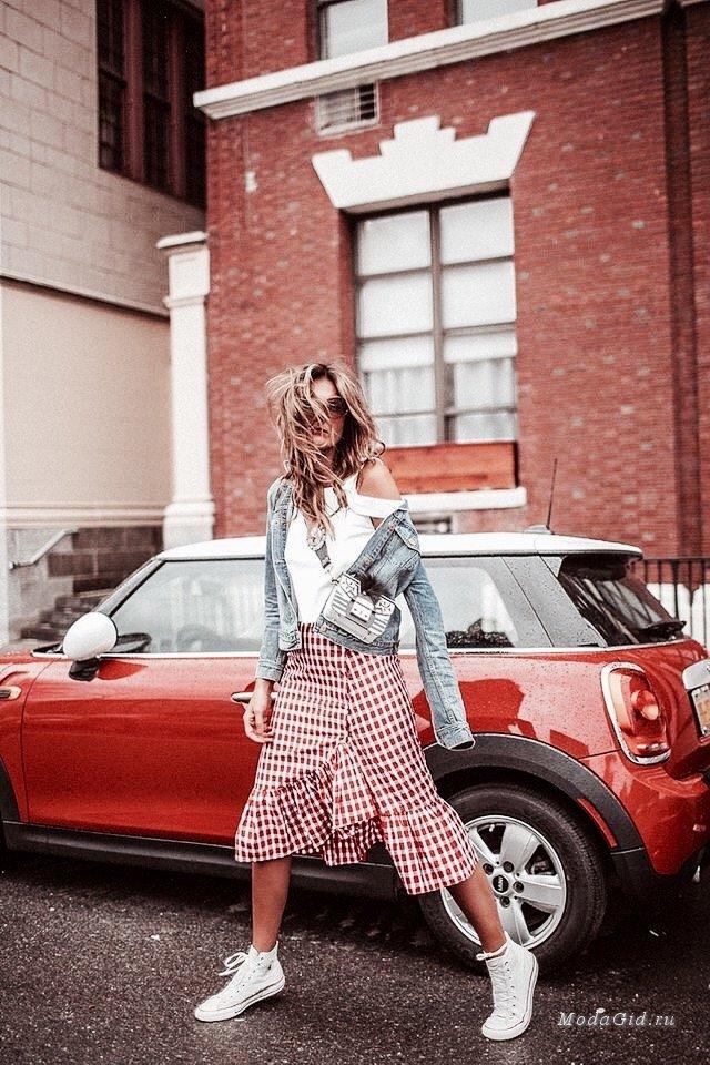 Модный тренд: одежда в клетку виши (гинем)