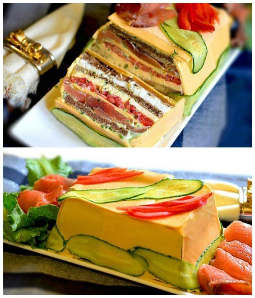 Невероятное блюдо! Сырный закусочный торт