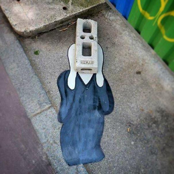 Крик вандализм, граффити, инсталляция, искусство, мир, творчество, улица, художник