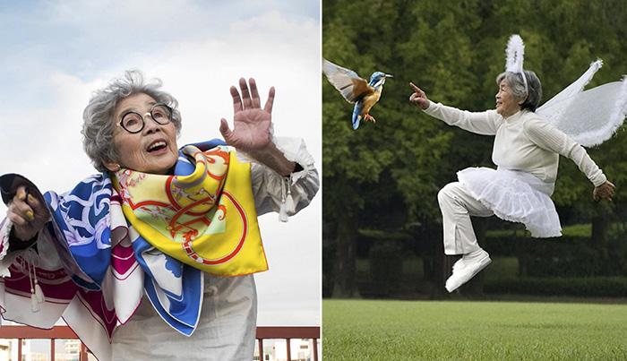 90-летняя японка стала звездой Инстаграм и вернула себе радость жизни