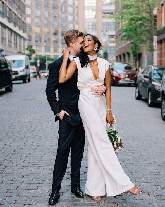 12 свадебных костюмов, которые заставят тебя отменить пошив платья