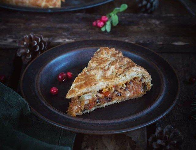 Осенний пирог с капустой и морковью от Анжелики Зоркиной