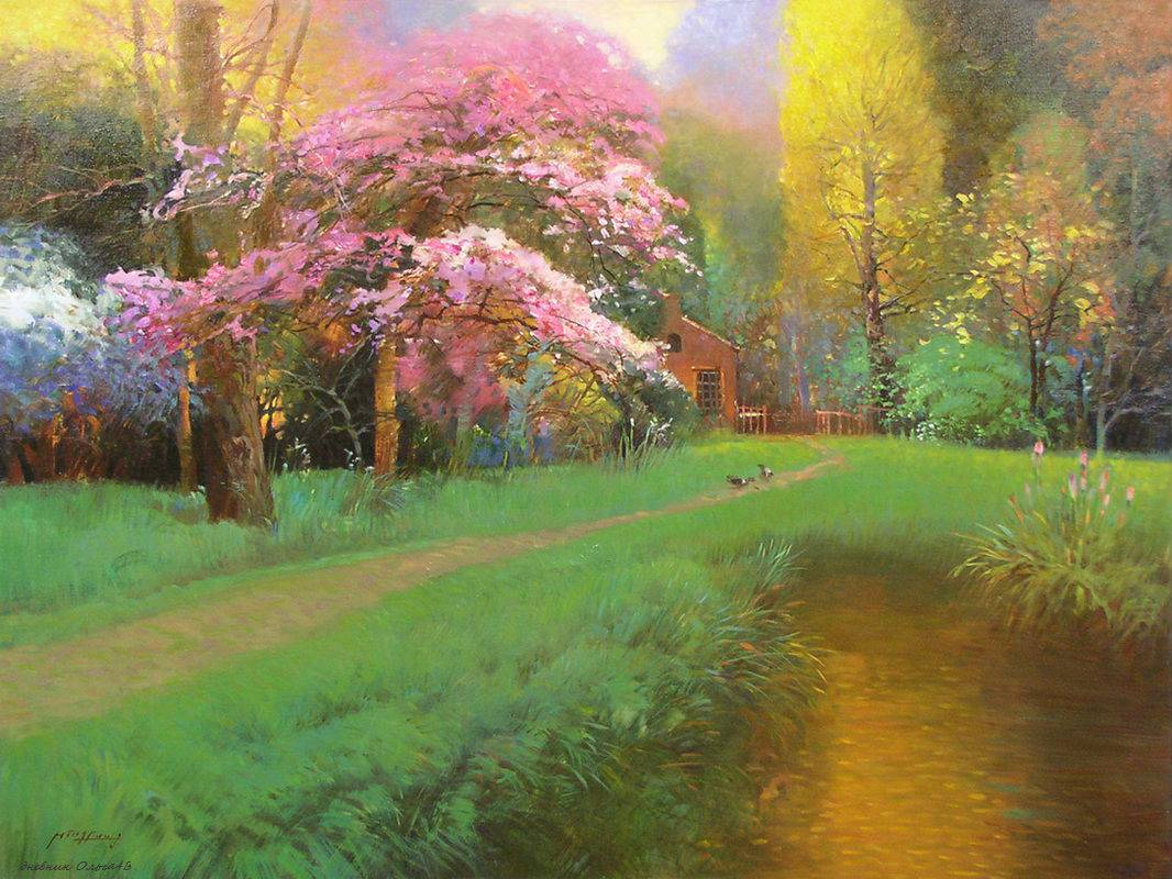 Душистой дымкою цветов... Китайский художник Ming Feng