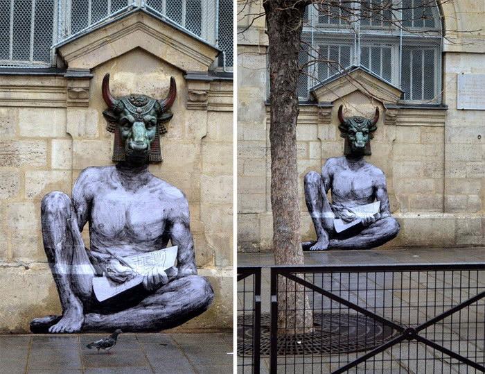 Уличный художник Levalet. Ра…