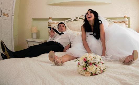 Муж после свадьбы: — У меня есть 3 привычки…