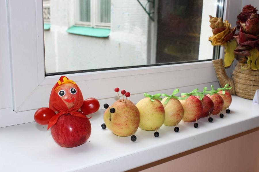 Фото поделка из яблока