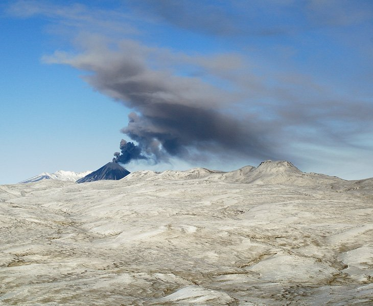 Зимняя Камчатка с высоты