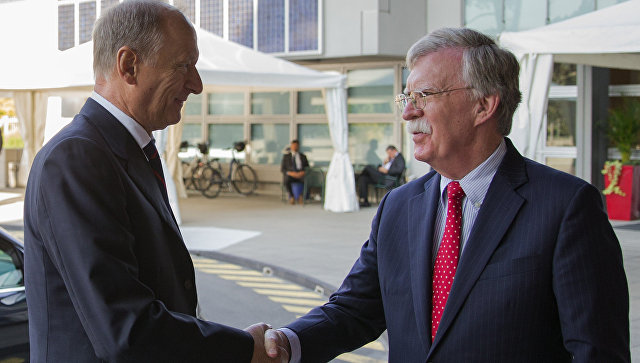 Американские истерики на встрече Болтона и Патрушева