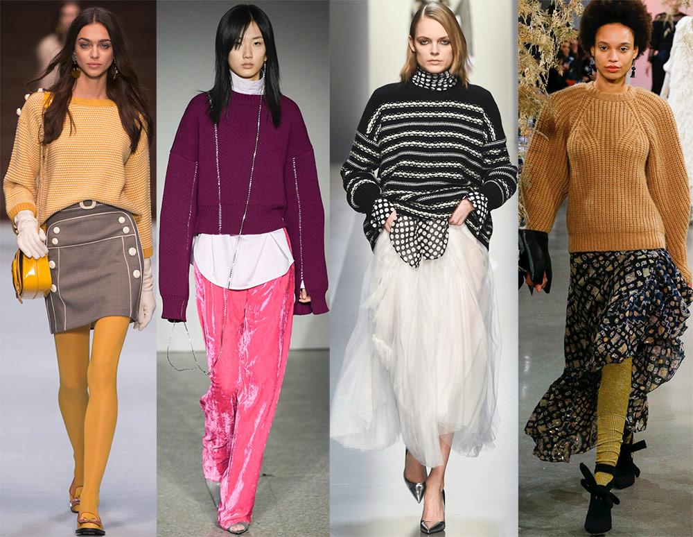 Модные женские свитера 2018-2019 года