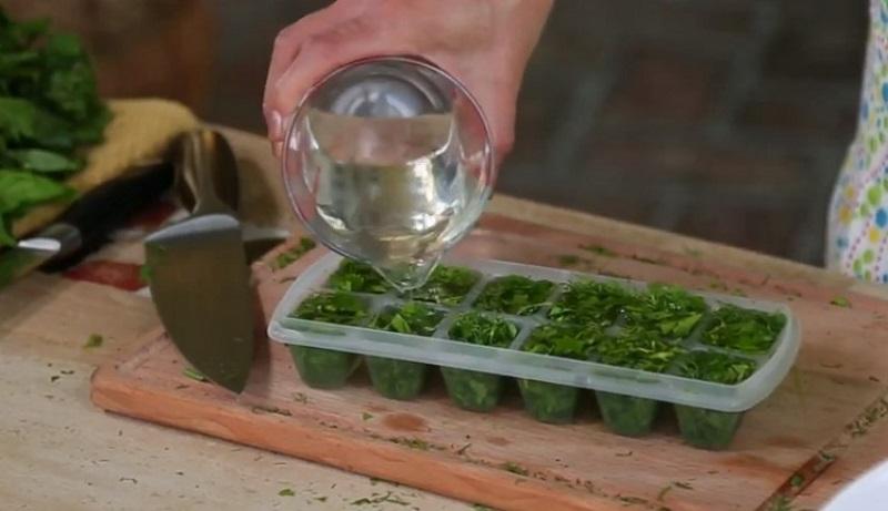 как заморозить зелень на зиму в кубиках