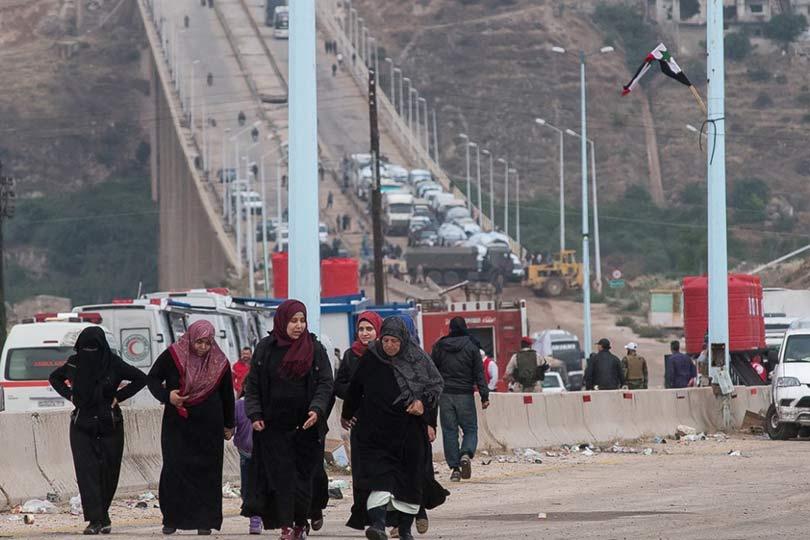 В Сирии беженцы возвращаются…