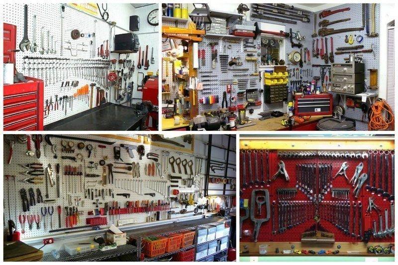 6. А вы сможете придумать свои варианты размещения предметов в гараже на основе этих фото? гараж, идеальный, инструменты, мастерская, перфекционизм, порядок