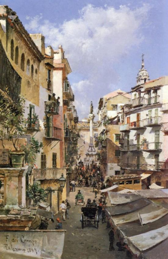 городские пейзажи художника Federico del Campo - 12