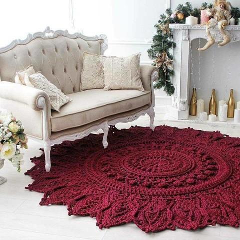 Красивый коврик для дома крючком