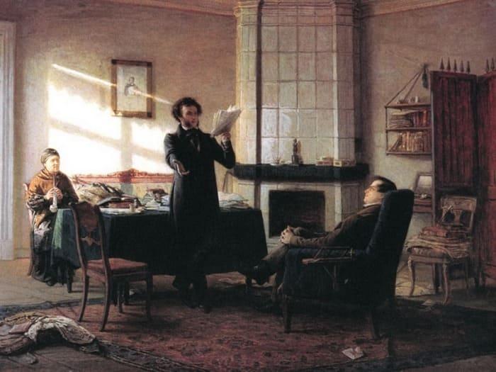 Н. Ге. Пушкин в селе Михайловском, 1875   Фото: artchive.ru