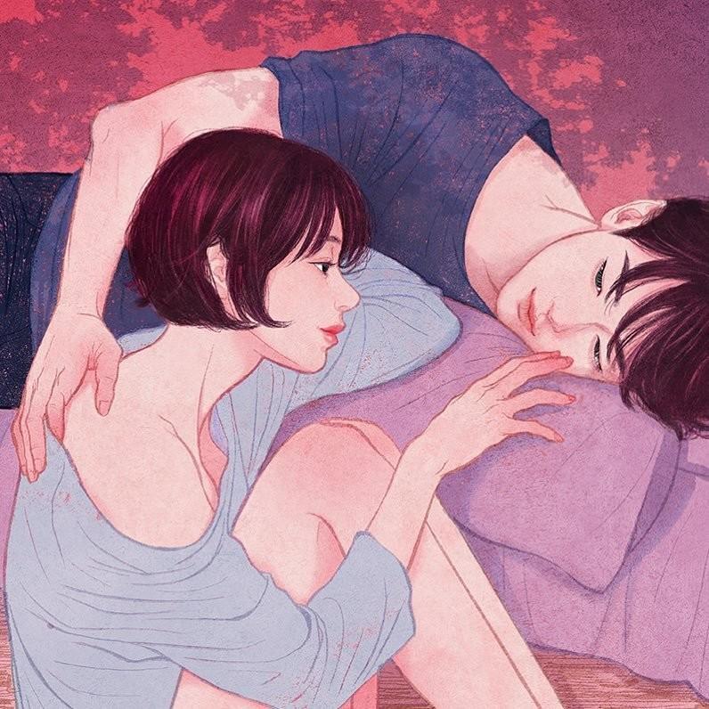 """""""Все еще не знаю, почему я люблю трогать твою кожу, потом свою"""" Любовь, в мире, влюбленность, искусство, романтика, художник, южная корея"""