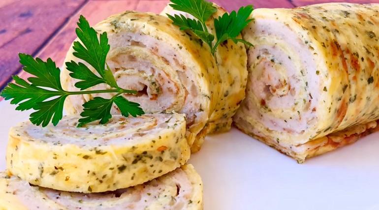 Куриный рулет с сыром: много-много вкуснейшей закуски