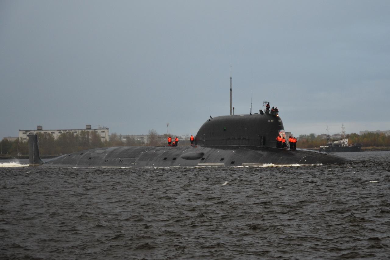Атомный подводный крейсер «Казань» в море