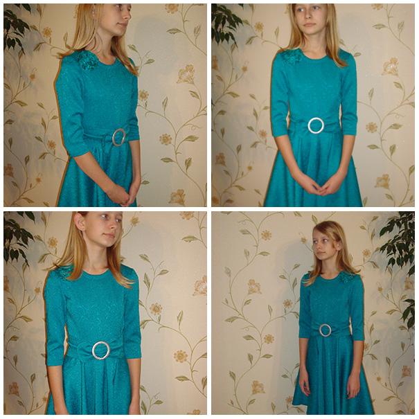 ИГОЛКА С НИТОЧКОЙ. Праздничное платье для девочки-подростка