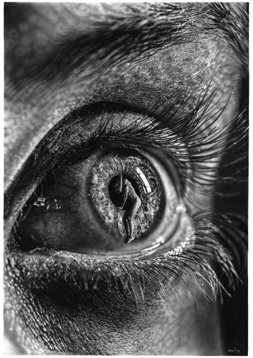 Фотореалистичные рисунки, которые создаёт художник Йоно Драй (15 фото)