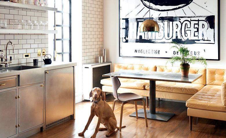 Кухня с диваном: 28 стильных примеров обустройства