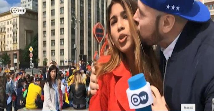 Немецкая журналистка-лесбиянка пожаловалась на поцелуй болельщика-натурала