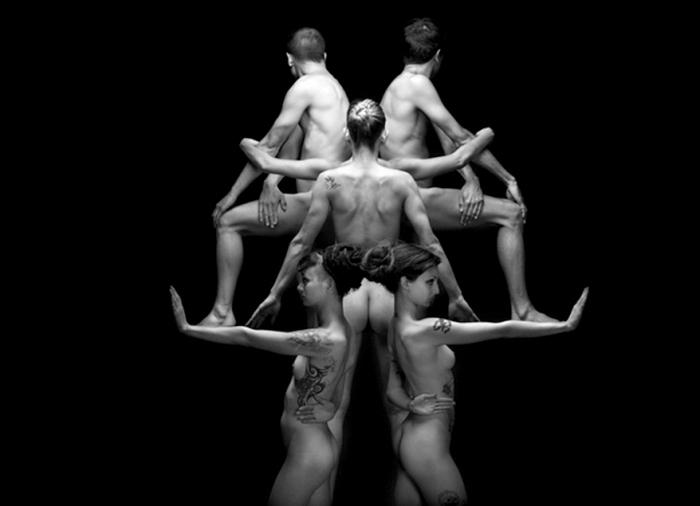 """""""Кляксы"""" Роршаха в стиле ню. Арт-проект Klecksography, фотограф Оливье Вальсекки (Olivier Valsecchi)"""