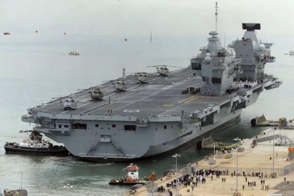 Великобритания пугает Китай авианосцем, Поднебесная не видит его в упор