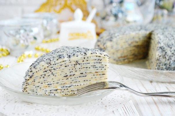 Торт «Маковка» из блинов