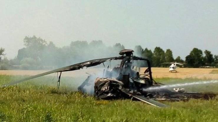Вертолёт ВВС Польши полностью сгорел в ходе учений НАТО в Италии