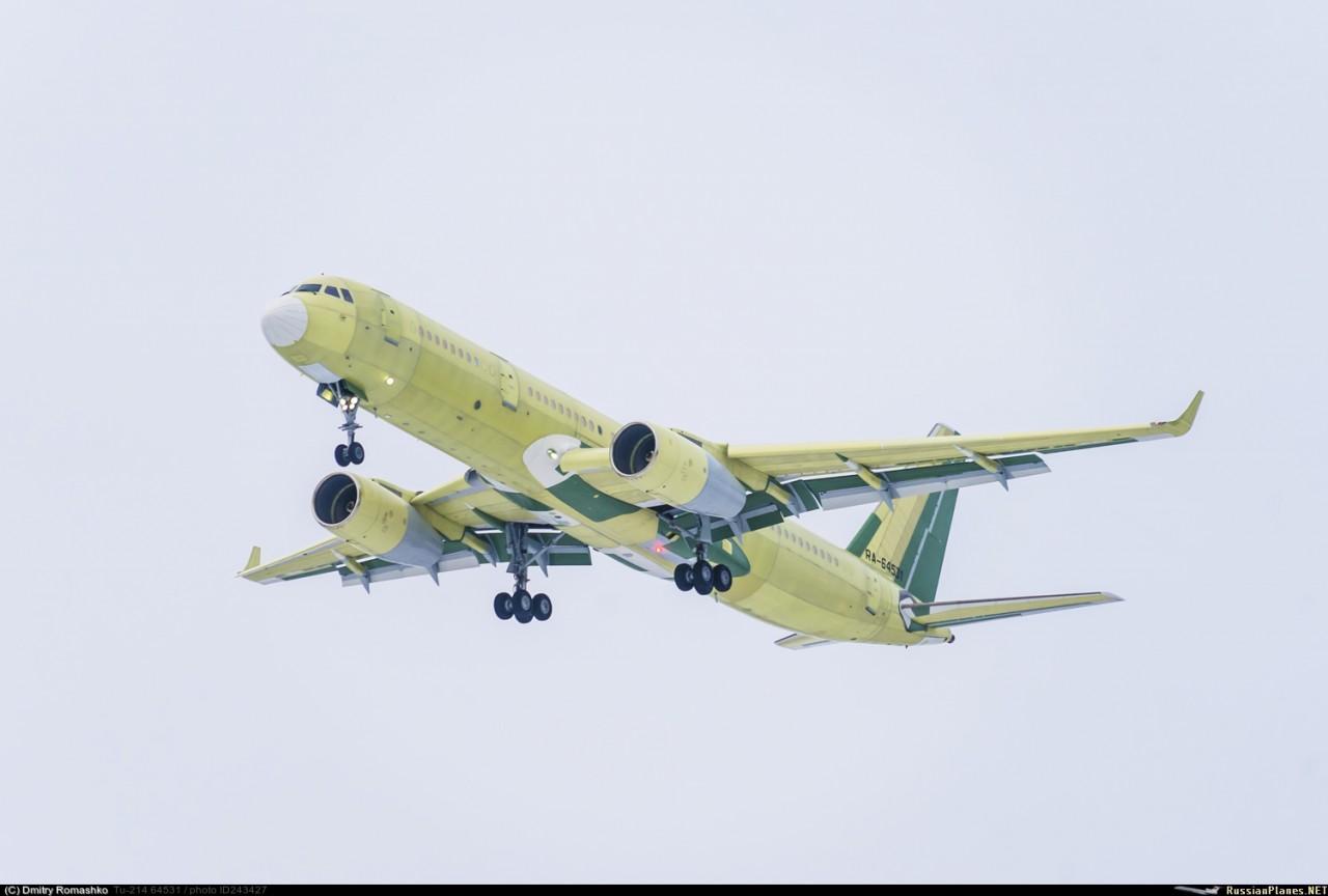 Построен новый самолет Ту-214