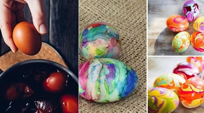 как покрасить яйца