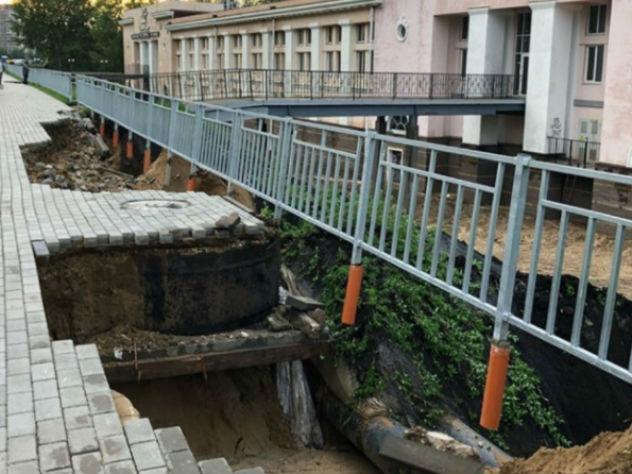 Построенная к ЧМ-2018 набережная в Нижнем Новгороде развалилась из-за ливней